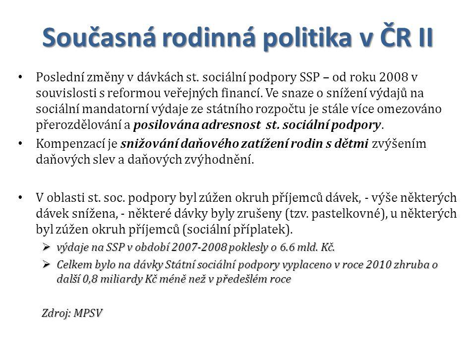 Současná rodinná politika v ČR II