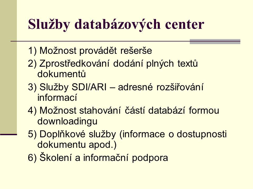 Služby databázových center