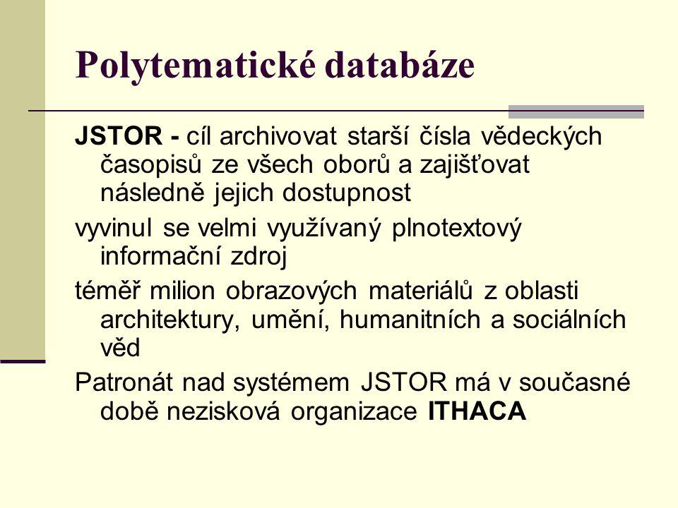 Polytematické databáze