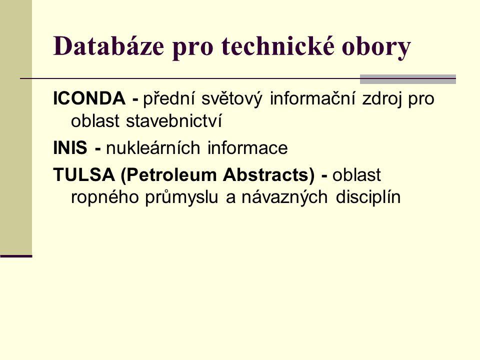 Databáze pro technické obory