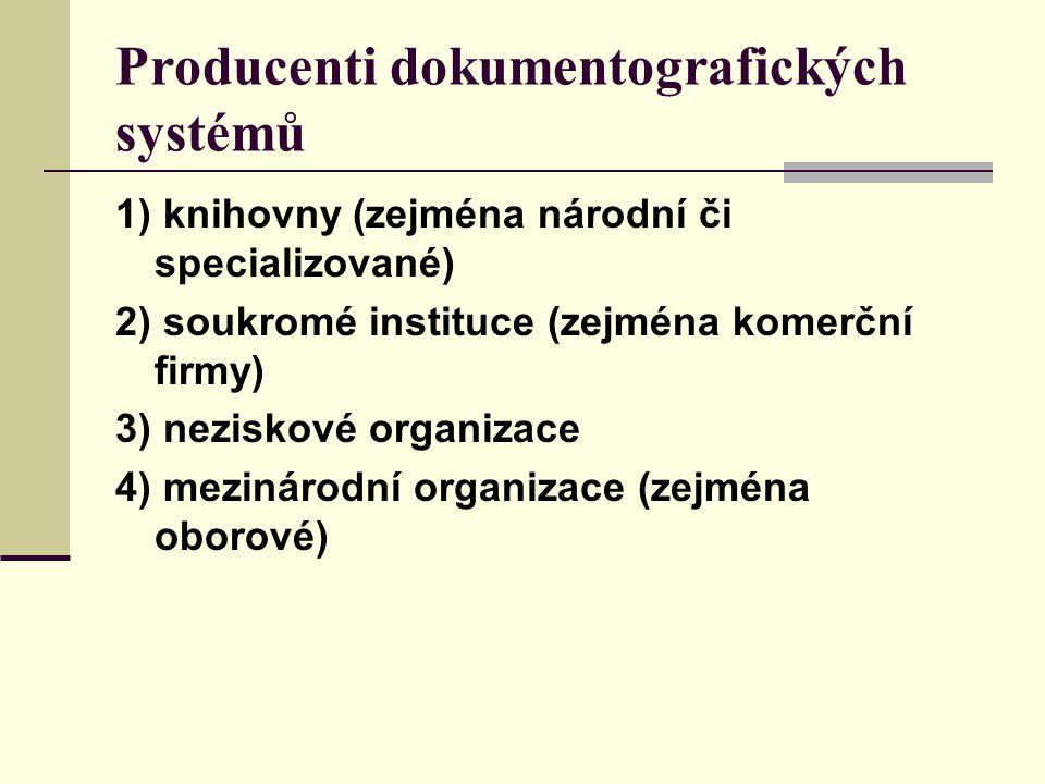 Producenti dokumentografických systémů