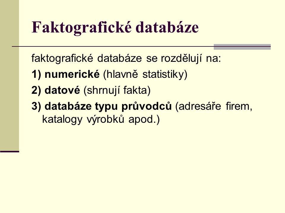 Faktografické databáze