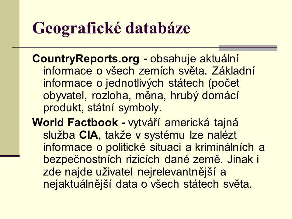 Geografické databáze