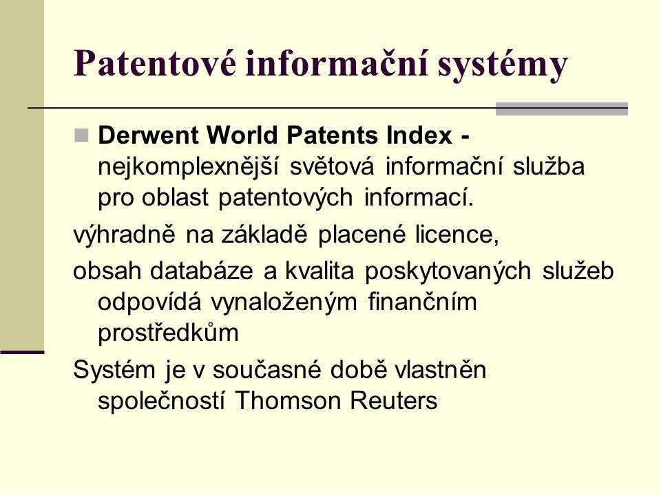 Patentové informační systémy