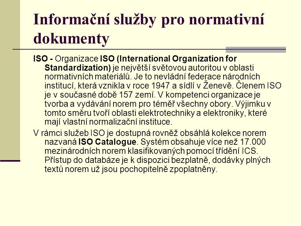 Informační služby pro normativní dokumenty