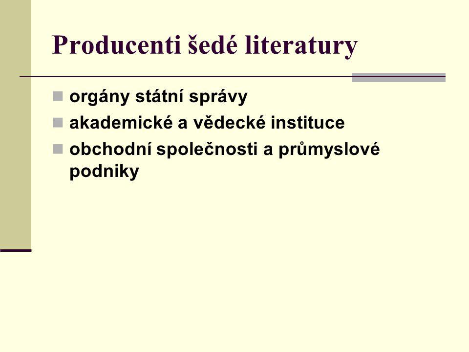 Producenti šedé literatury