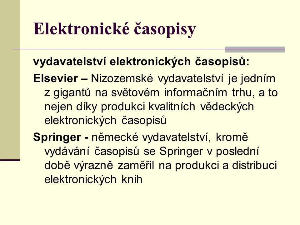 Elektronické časopisy