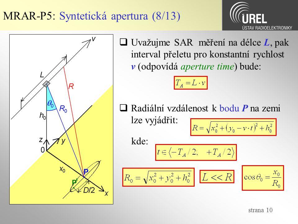 MRAR-P5: Syntetická apertura (8/13)