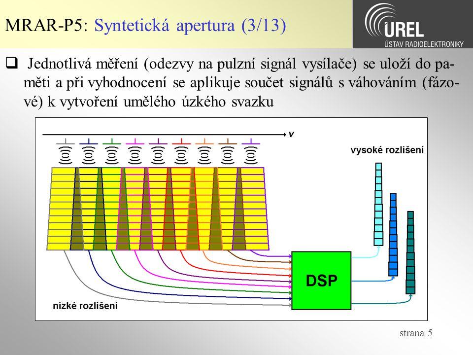MRAR-P5: Syntetická apertura (3/13)
