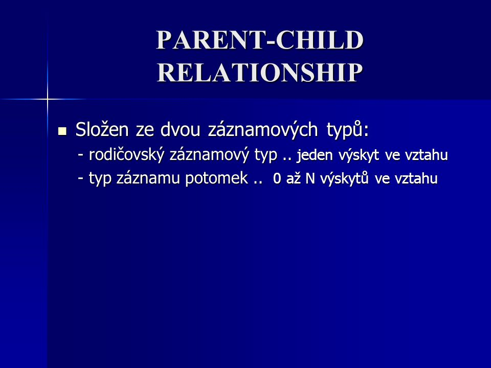 PARENT-CHILD RELATIONSHIP