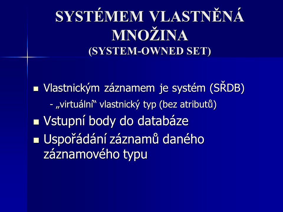 SYSTÉMEM VLASTNĚNÁ MNOŽINA (SYSTEM-OWNED SET)
