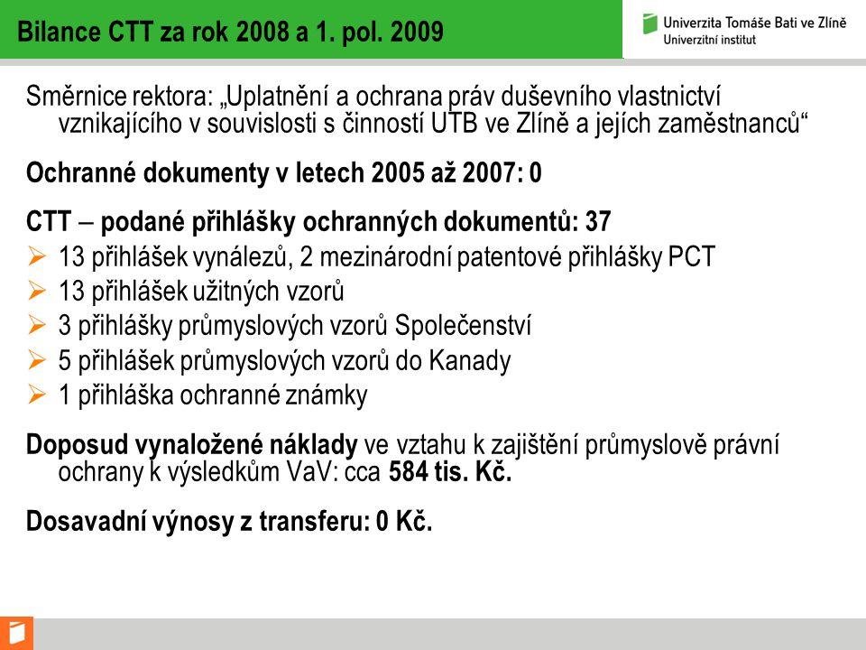 Ochranné dokumenty v letech 2005 až 2007: 0