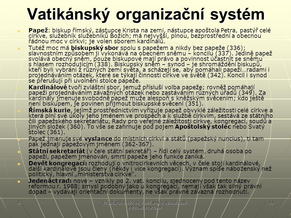 Vatikánský organizační systém