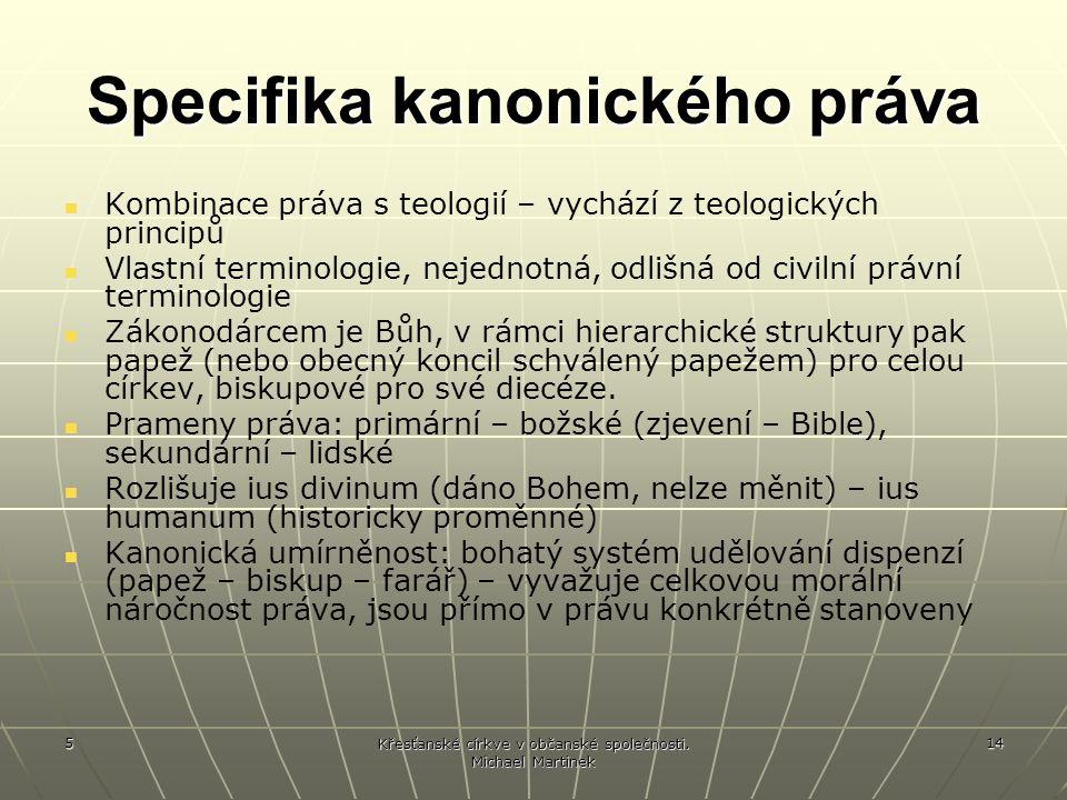 Specifika kanonického práva