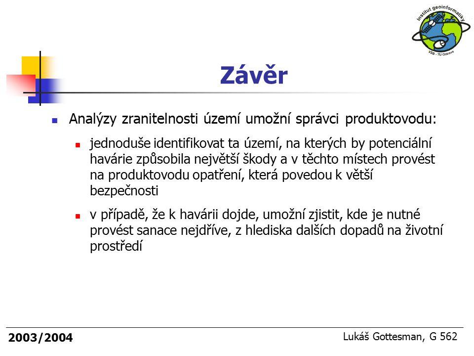 Závěr Analýzy zranitelnosti území umožní správci produktovodu: