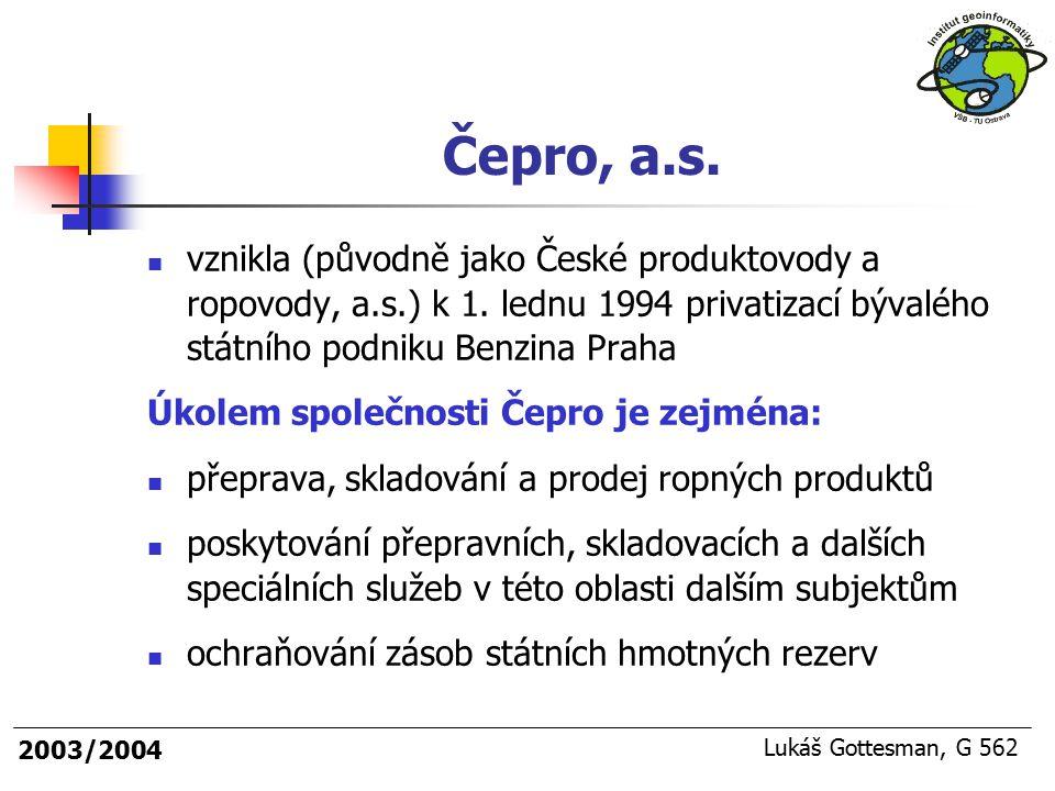 Čepro, a.s. vznikla (původně jako České produktovody a ropovody, a.s.) k 1. lednu 1994 privatizací bývalého státního podniku Benzina Praha.