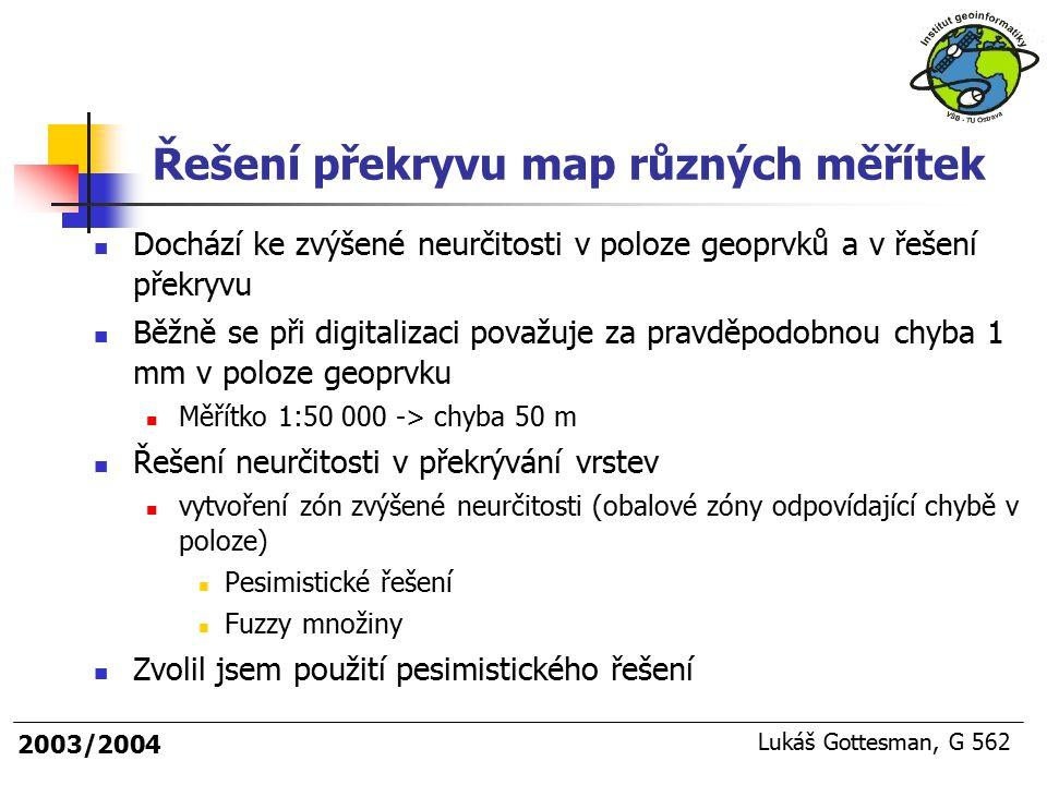 Řešení překryvu map různých měřítek
