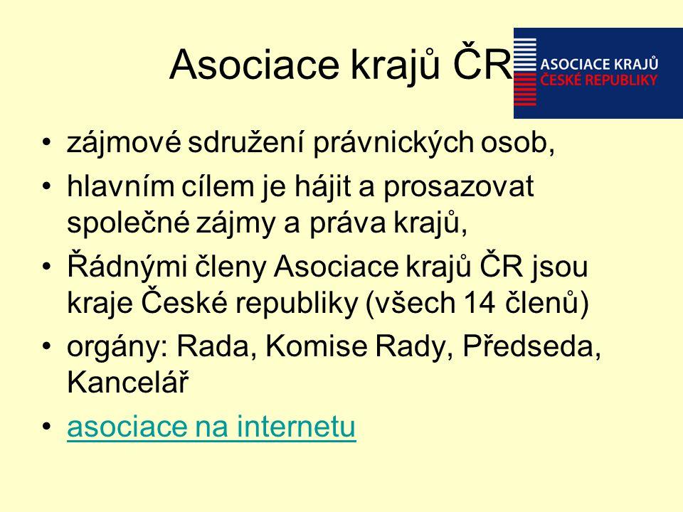 Asociace krajů ČR zájmové sdružení právnických osob,