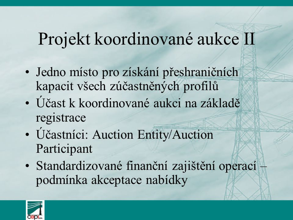 Projekt koordinované aukce II
