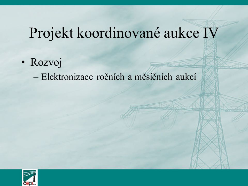 Projekt koordinované aukce IV