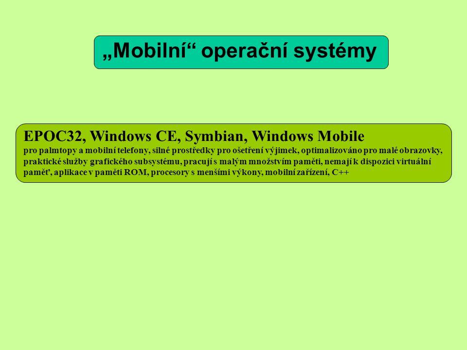 """""""Mobilní operační systémy"""