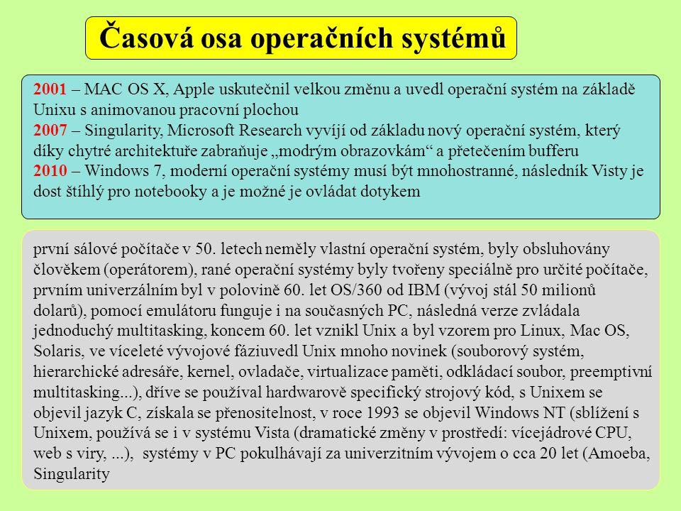 Časová osa operačních systémů