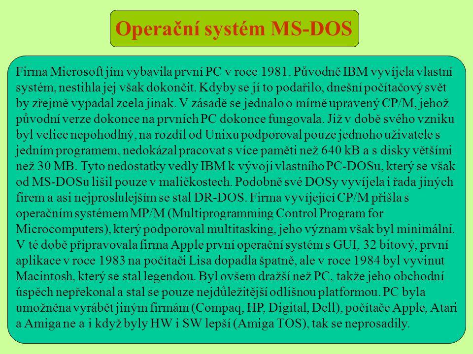 Operační systém MS-DOS