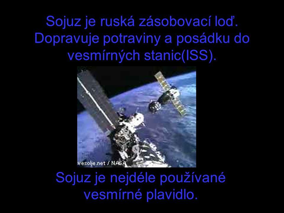 Sojuz je nejdéle používané vesmírné plavidlo.
