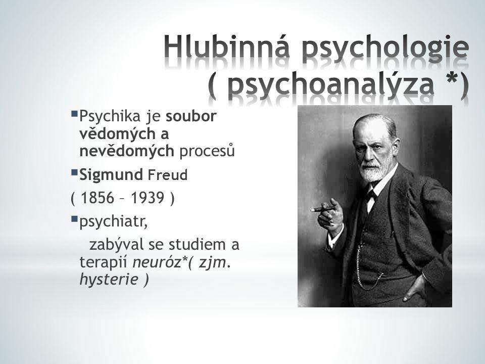 Hlubinná psychologie ( psychoanalýza *)