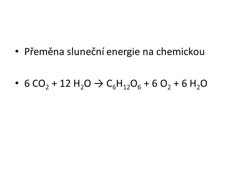 Přeměna sluneční energie na chemickou