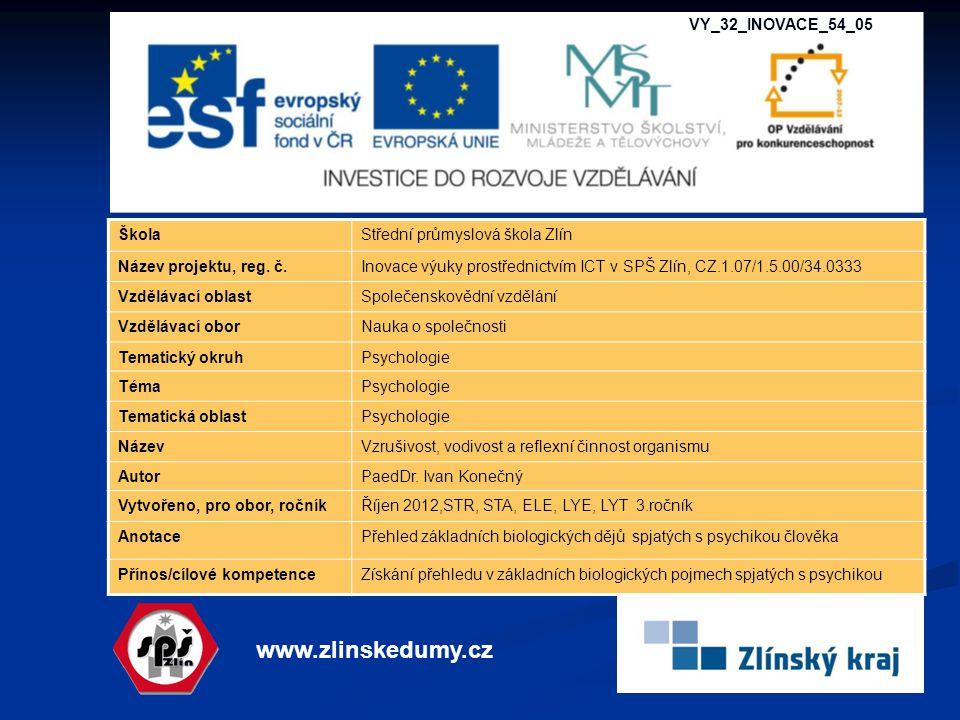 www.zlinskedumy.cz VY_32_INOVACE_54_05 Škola