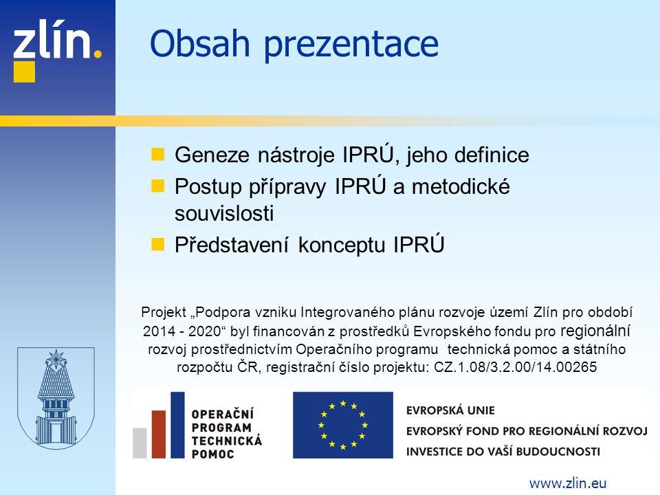 Obsah prezentace Geneze nástroje IPRÚ, jeho definice