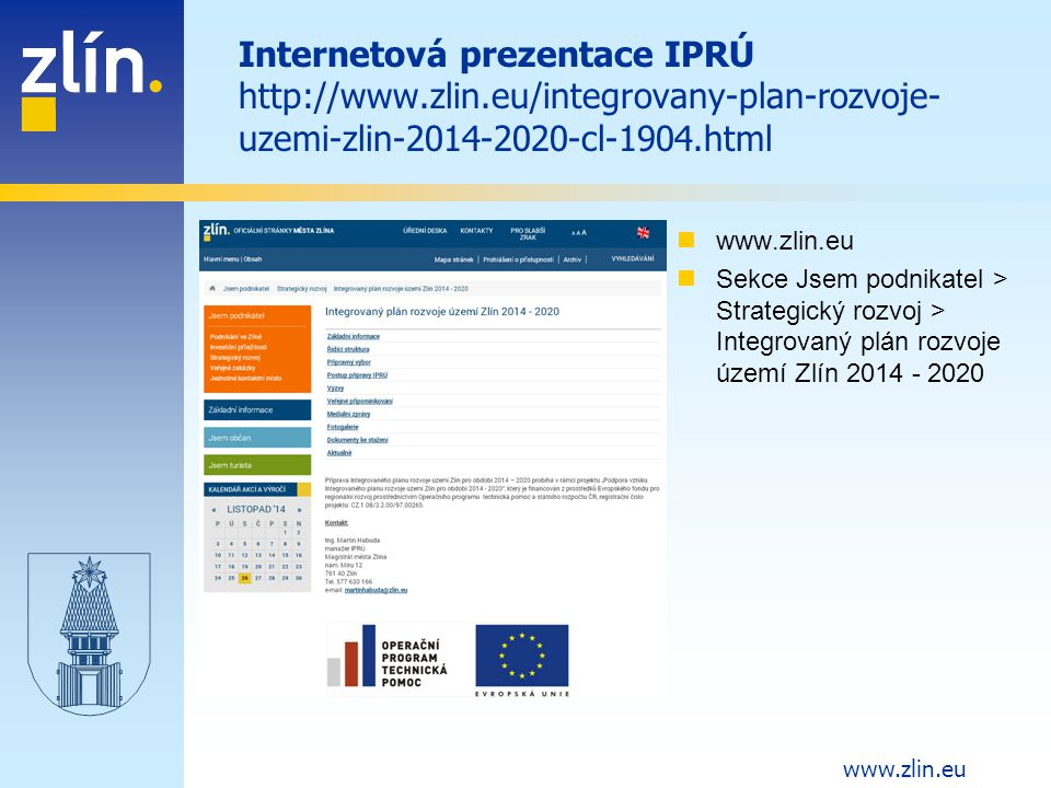 Internetová prezentace IPRÚ http://www. zlin