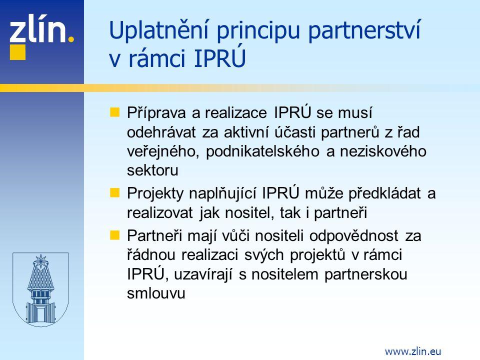 Uplatnění principu partnerství v rámci IPRÚ