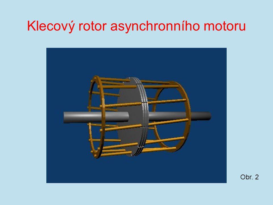 Klecový rotor asynchronního motoru