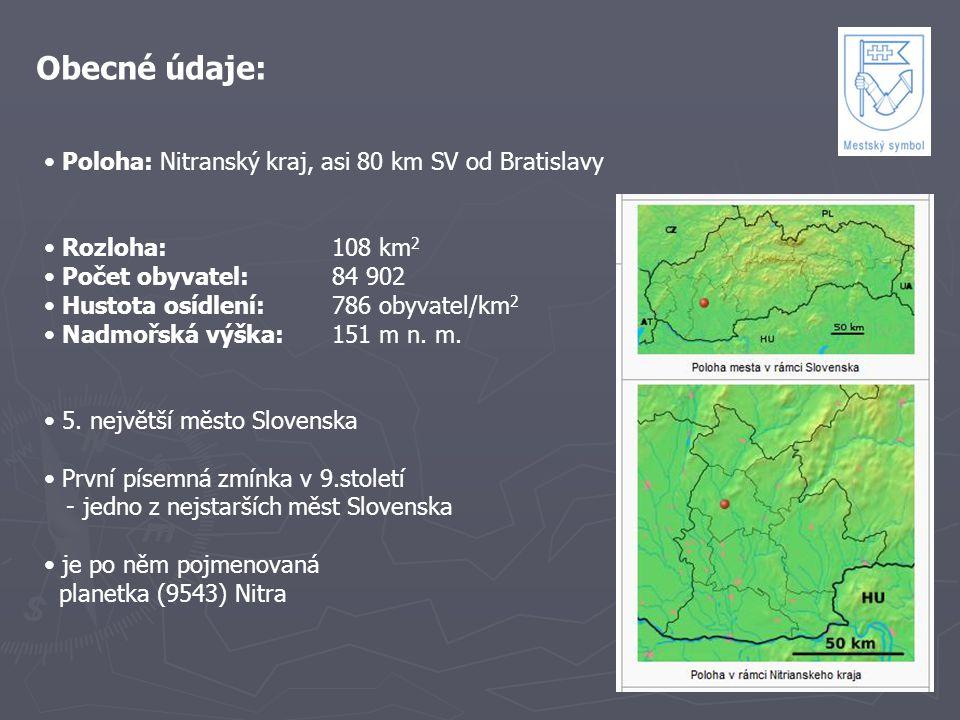 Obecné údaje: Poloha: Nitranský kraj, asi 80 km SV od Bratislavy