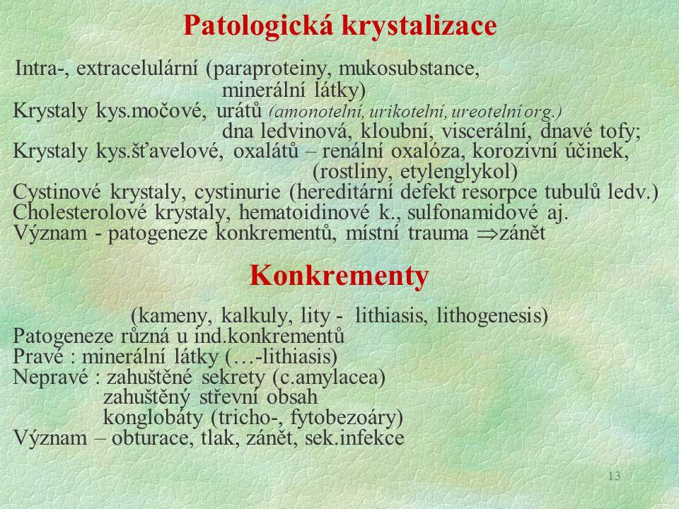 Patologická krystalizace