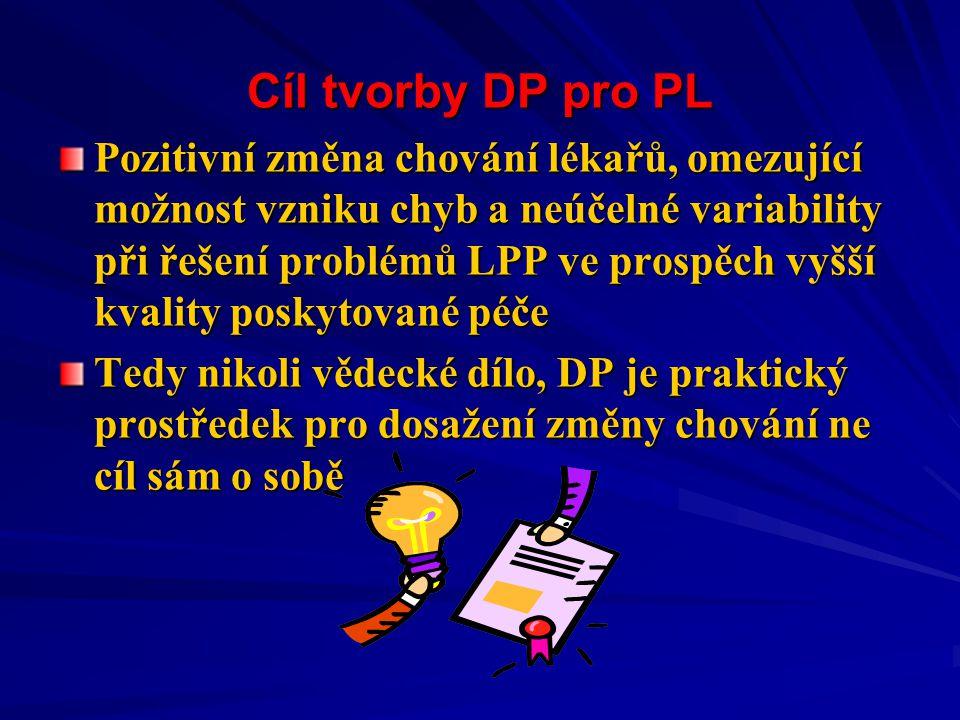 Cíl tvorby DP pro PL