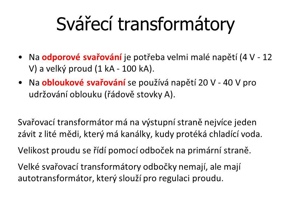 Svářecí transformátory
