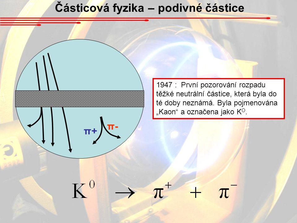 Částicová fyzika – podivné částice
