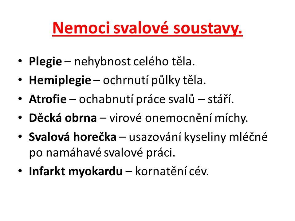 Nemoci svalové soustavy.