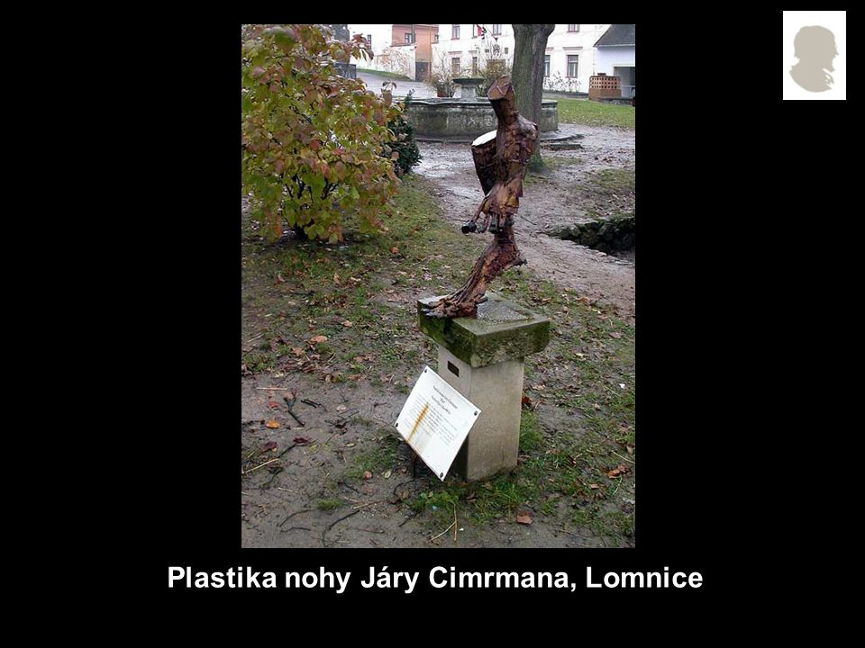 Plastika nohy Járy Cimrmana, Lomnice