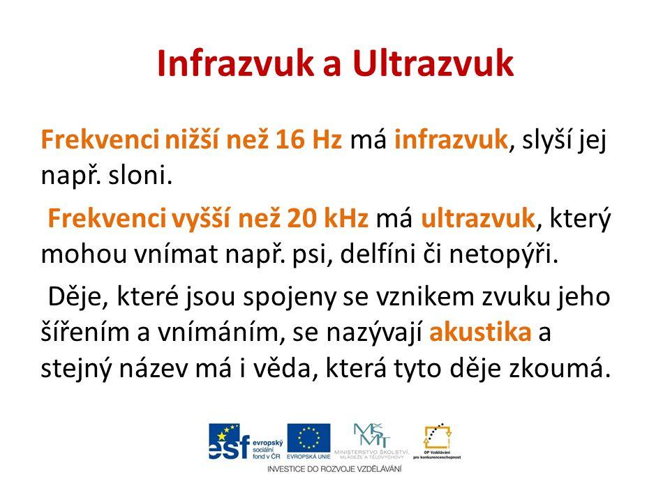 Infrazvuk a Ultrazvuk