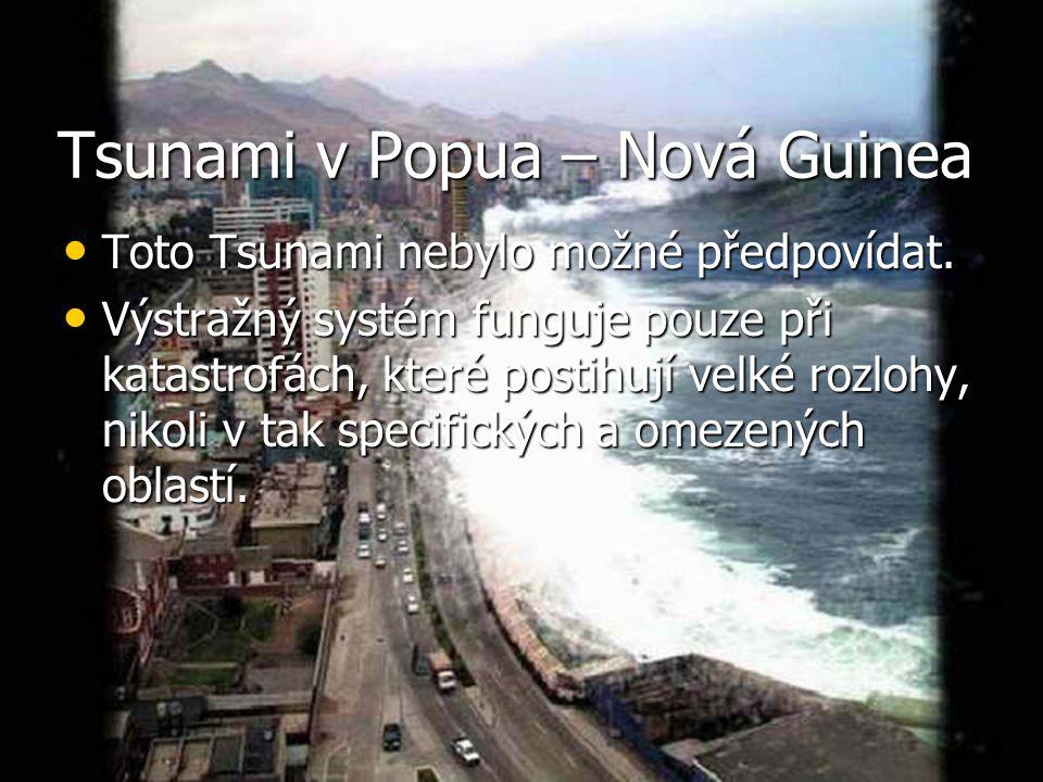 Tsunami v Popua – Nová Guinea