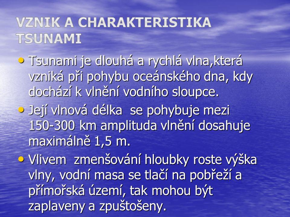 Vznik a charakteristika Tsunami