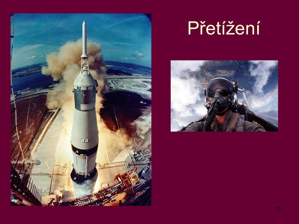 """Přetížení """"start rakety a letec"""