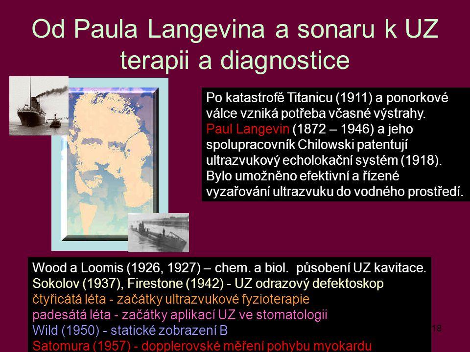 Od Paula Langevina a sonaru k UZ terapii a diagnostice