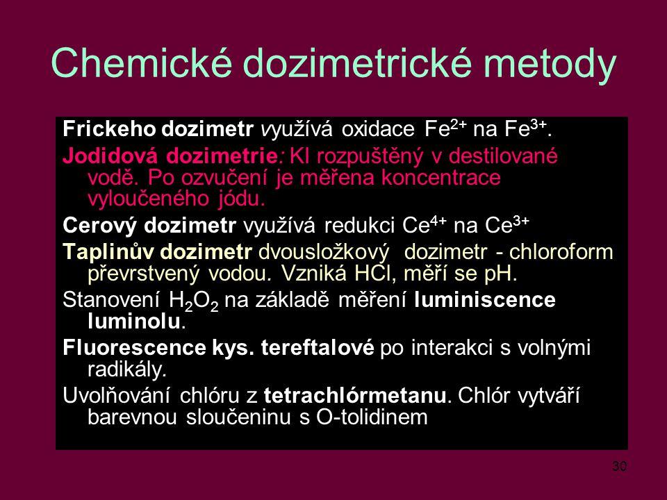 Chemické dozimetrické metody
