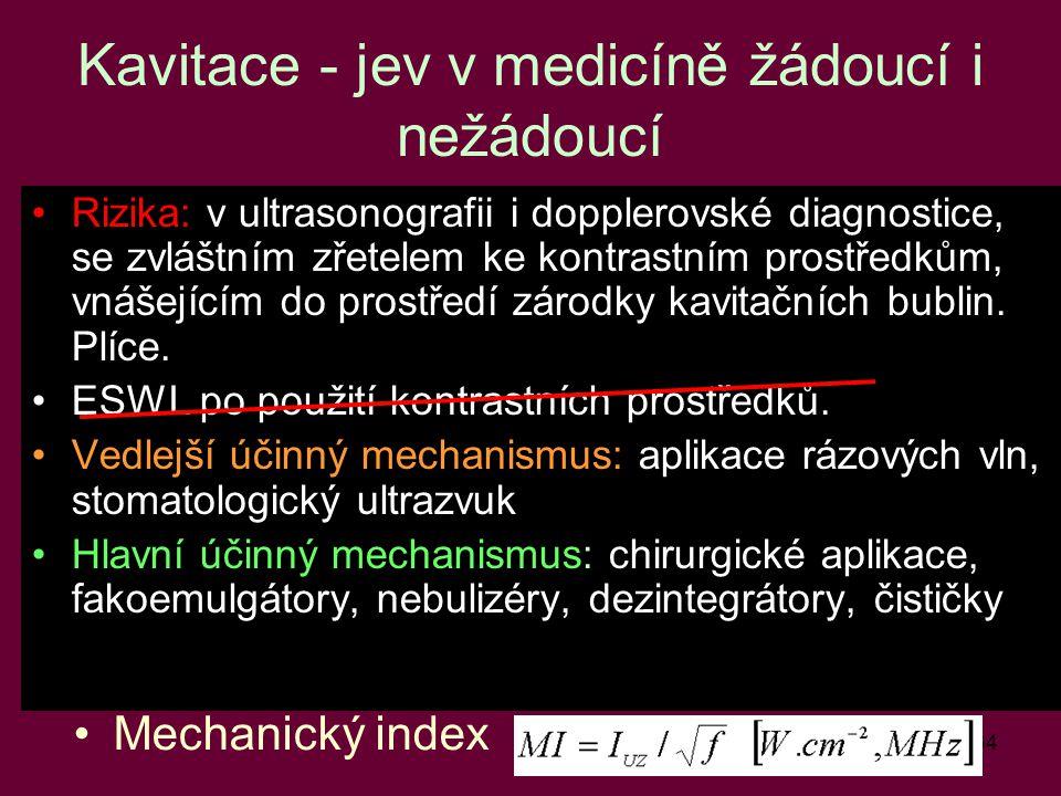 Kavitace - jev v medicíně žádoucí i nežádoucí