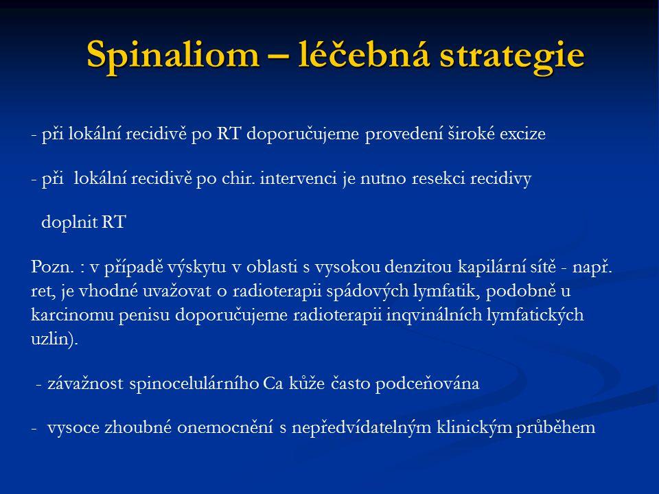 Spinaliom – léčebná strategie